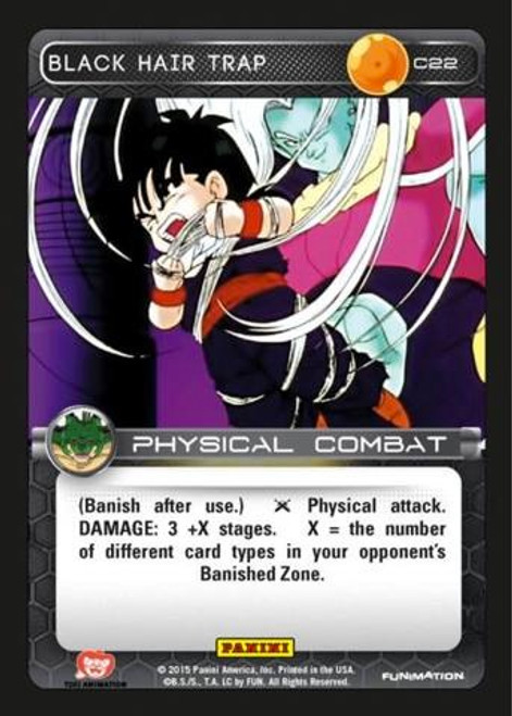 Dragon Ball Z CCG Heroes & Villains Common Black Hair Trap C22