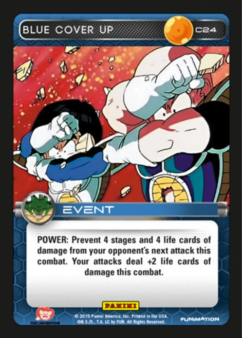 Dragon Ball Z CCG Heroes & Villains Common Blue Cover Up C24
