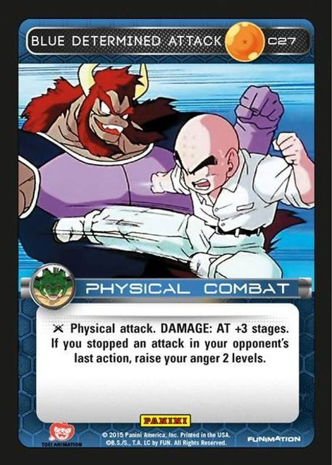 Dragon Ball Z Heroes & Villains Common Blue Determined Attack C27