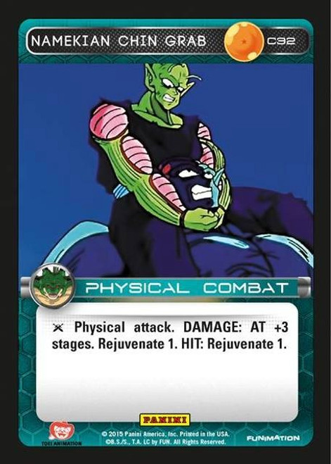 Dragon Ball Z CCG Heroes & Villains Common Namekian Chin Grab C32