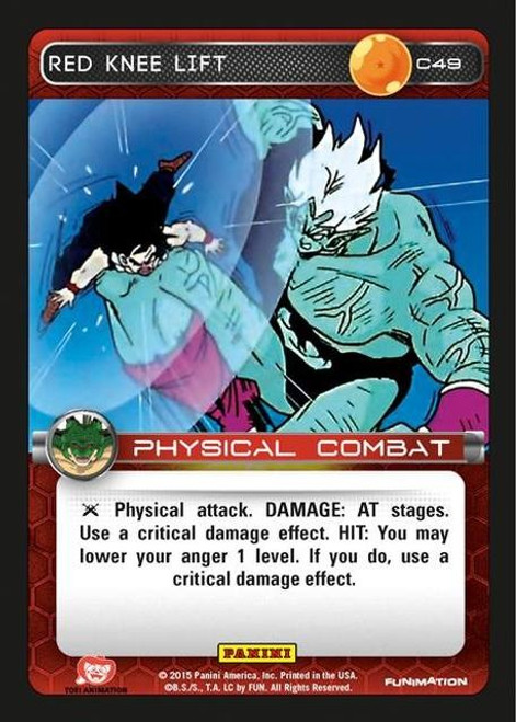 Dragon Ball Z CCG Heroes & Villains Common Red Knee Lift C49
