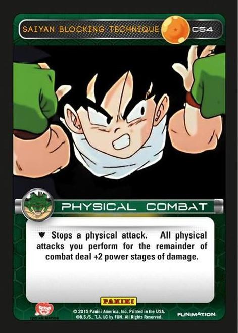 Dragon Ball Z Heroes & Villains Common Saiyan Blocking Technique C54