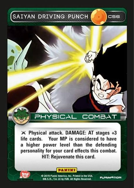 Dragon Ball Z CCG Heroes & Villains Common Saiyan Driving Punch C56