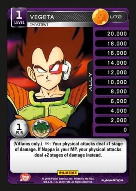 Dragon Ball Z Heroes & Villains Uncommon Vegeta, Impatient U72