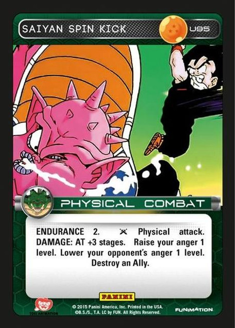 Dragon Ball Z CCG Heroes & Villains Uncommon Saiyan Spin Kick U95