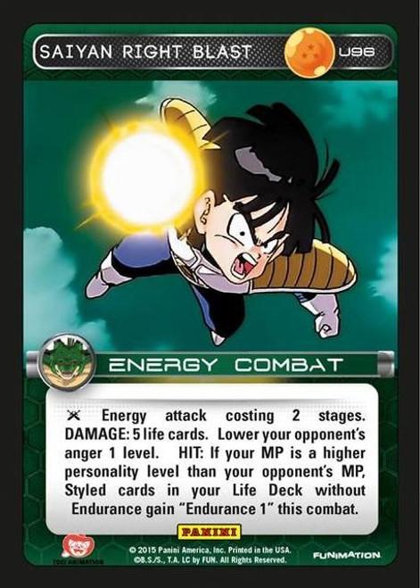Dragon Ball Z Heroes & Villains Uncommon Saiyan Right Blast U96