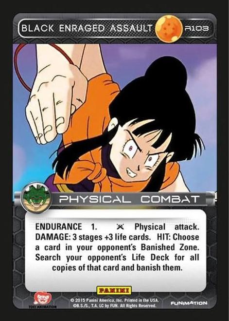 Dragon Ball Z CCG Heroes & Villains Rare Black Enraged Assault R103