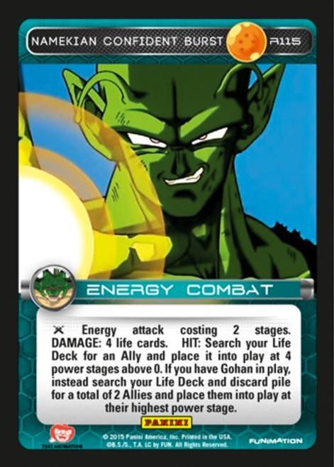 Dragon Ball Z Heroes & Villains Rare Namekian Confident Burst R115