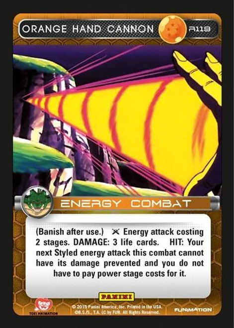 Dragon Ball Z Heroes & Villains Rare Orange Hand Cannon R119