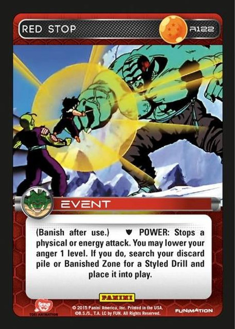 Dragon Ball Z Heroes & Villains Rare Red Stop R122