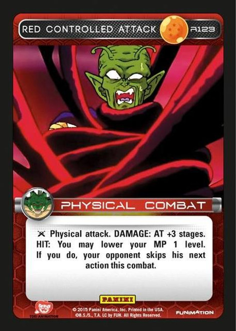 Dragon Ball Z CCG Heroes & Villains Rare Red Controlled Attack R123