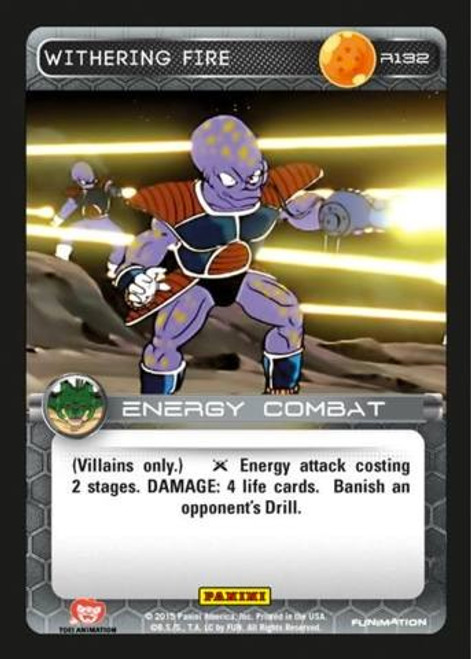 Dragon Ball Z Heroes & Villains Rare Withering Fire R132