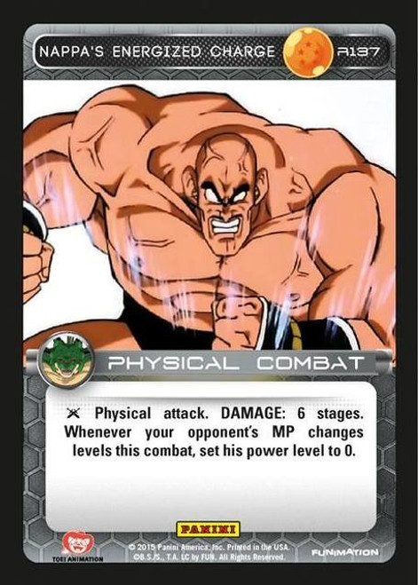 Dragon Ball Z Heroes & Villains Rare Nappa's Energized Charge R137