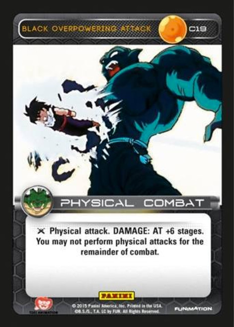 Dragon Ball Z Heroes & Villains Common Foil Black Overpowering Attack C19