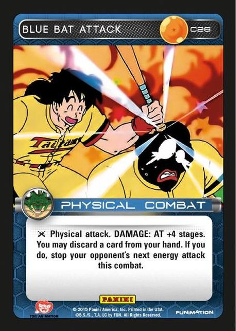 Dragon Ball Z Heroes & Villains Common Foil Blue Bat Attack C26