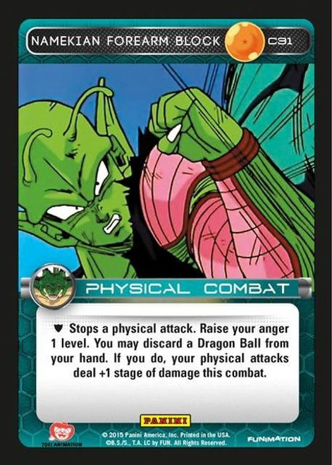 Dragon Ball Z Heroes & Villains Common Foil Namekian Forearm Block C31