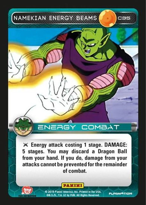 Dragon Ball Z CCG Heroes & Villains Common Foil Namekian Energy Beams C35