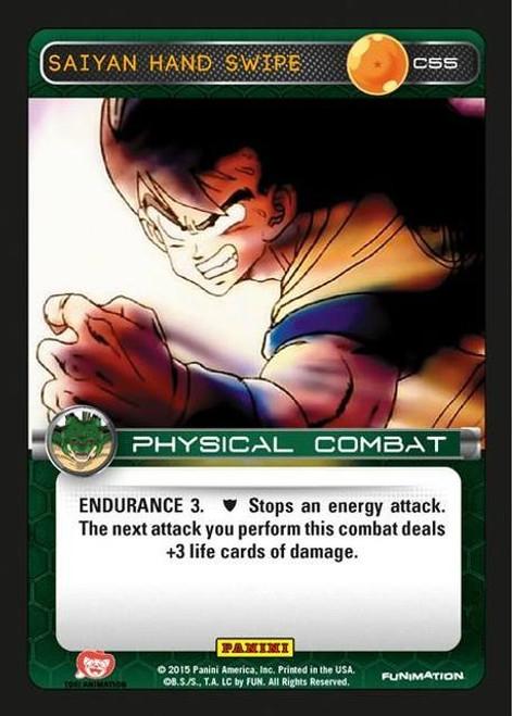 Dragon Ball Z CCG Heroes & Villains Common Foil Saiyan Hand Swipe C55