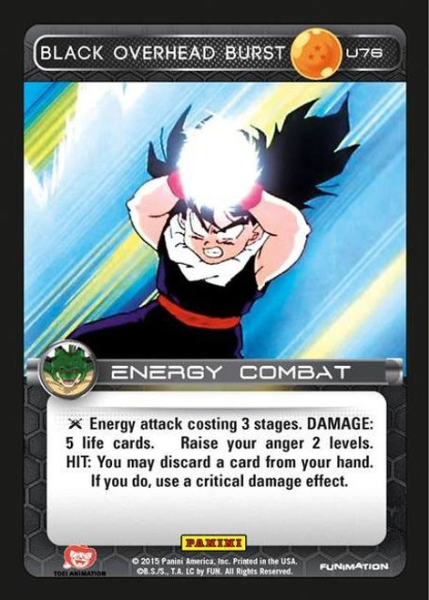 Dragon Ball Z CCG Heroes & Villains Uncommon Foil Black Overhead Burst U76