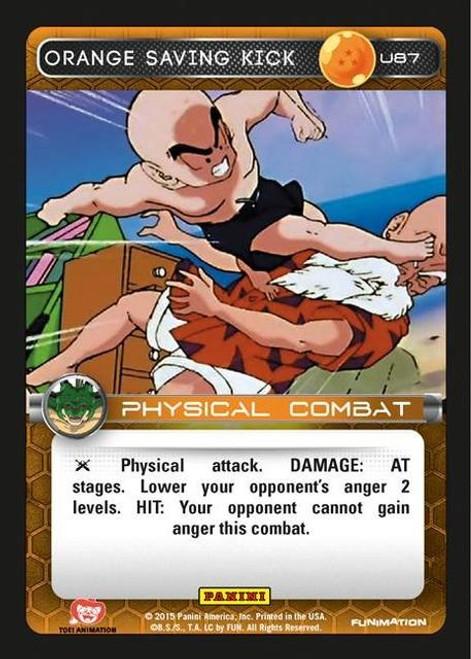 Dragon Ball Z Heroes & Villains Uncommon Foil Orange Saving Kick U87