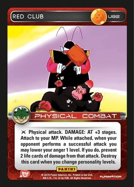 Dragon Ball Z Heroes & Villains Uncommon Foil Red Club U92