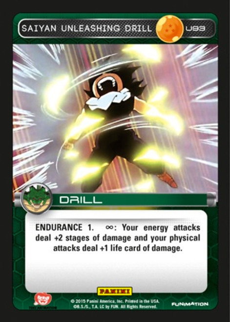 Dragon Ball Z CCG Heroes & Villains Uncommon Foil Saiyan Unleashing Drill U93