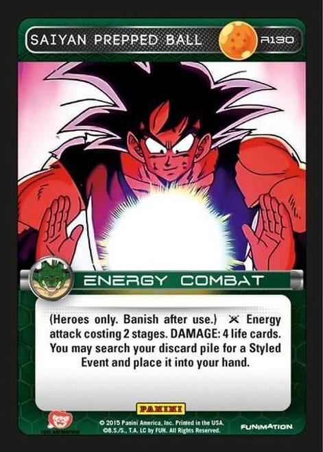 Dragon Ball Z Heroes & Villains Rare Foil Saiyan Prepped Ball R130