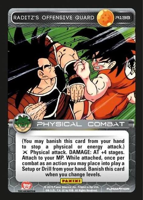 Dragon Ball Z Heroes & Villains Rare Foil Raditz's Offensive Guard R138