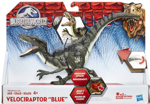 Jurassic World Growler Velociraptor Blue Action Figure