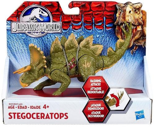 Jurassic World Bashers & Biters Stegoceratops Action Figure [Green]