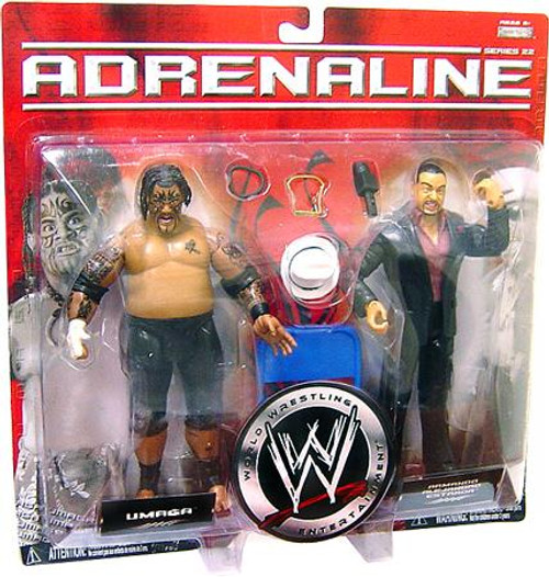 WWE Wrestling Adrenaline Series 22 Umaga & Armando Alejandro Estrada Action Figure 2-Pack [Damaged Package]