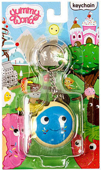 Yummy World Cookie with Blue Frosting Keychain