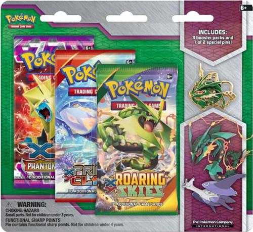 Pokemon Trading Card Game XY Mega Rayquaza Pin Collection [3 Booster Packs & Pin]