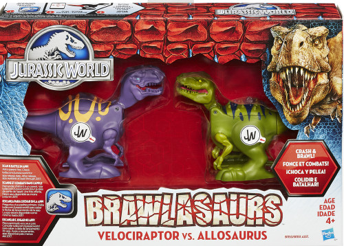 Jurassic World Brawlasaurs Raptor vs Allosauras Action Figure 2-Pack