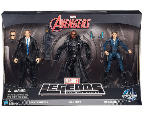 Avengers Marvel Legends Infinite Series Agent Coulson, Nick Fury & Maria Hill Exclusive Action Figure 3-Pack [Agents of Shield]