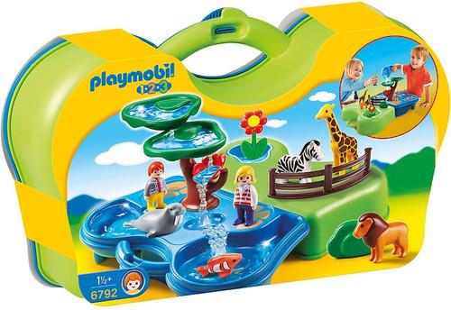 Playmobil 1.2.3 Take Along Zoo & Aquarium Set #6792