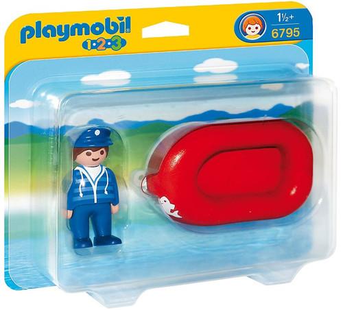 Playmobil 1.2.3 Man with Water Raft Set #6795