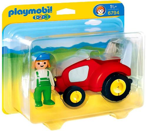 Playmobil 1.2.3 Tractor Set #6794
