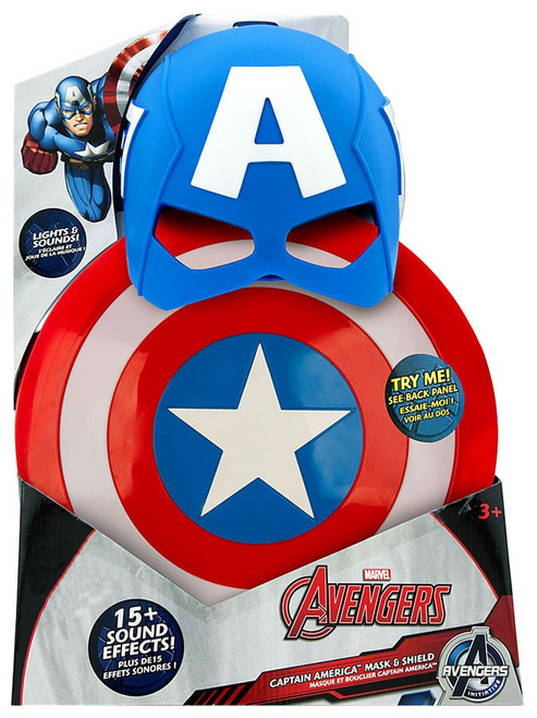 Disney Marvel Avengers Initiative Captain America Mask & Shield Exclusive Roleplay Toy
