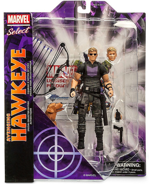 Disney Avengers Marvel Select Avenging Hawkeye Exclusive Action Figure