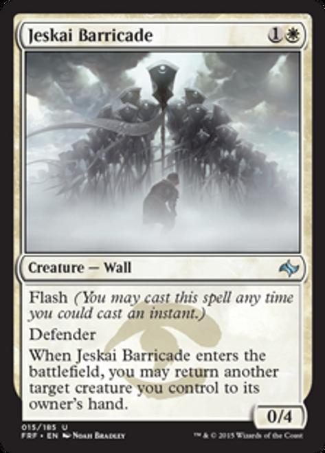 MtG Fate Reforged Uncommon Foil Jeskai Barricade #15