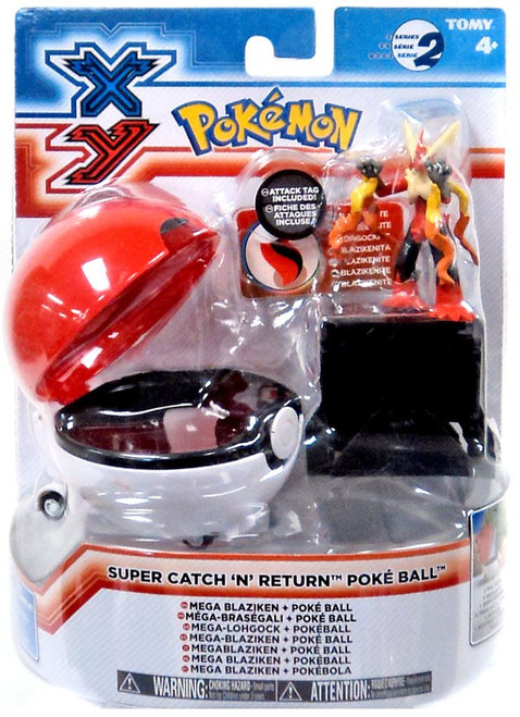 Pokemon XY Super Catch n Return Pokeball Mega Blaziken Figure Set
