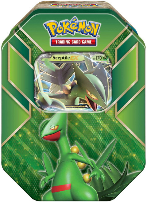 Pokemon Trading Card Game 2015 Hoenn Power Sceptile-EX Tin Set [4 Booster Packs & Promo Card!]