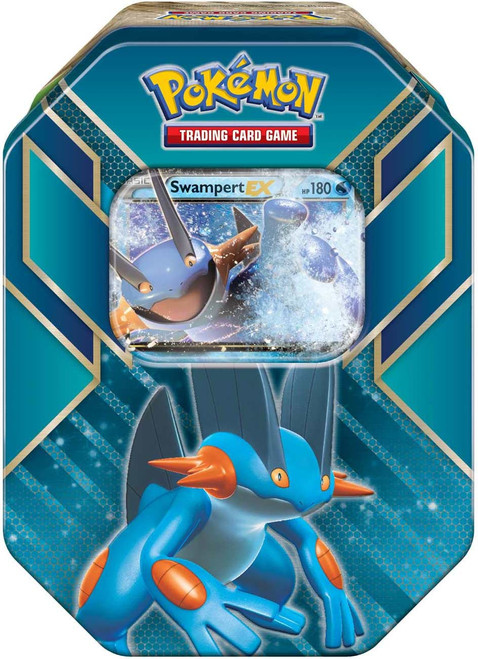Pokemon Trading Card Game 2015 Hoenn Power Swampert-EX Tin Set [4 Booster Packs & Promo Card!]