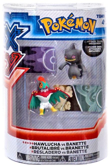 Pokemon XY Hawlucha vs Banette Figure 2-Pack