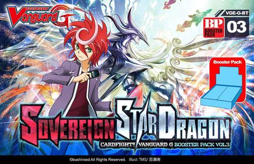 Cardfight Vanguard G Sovereign Star Dragon Booster Pack VGE-G-BT03