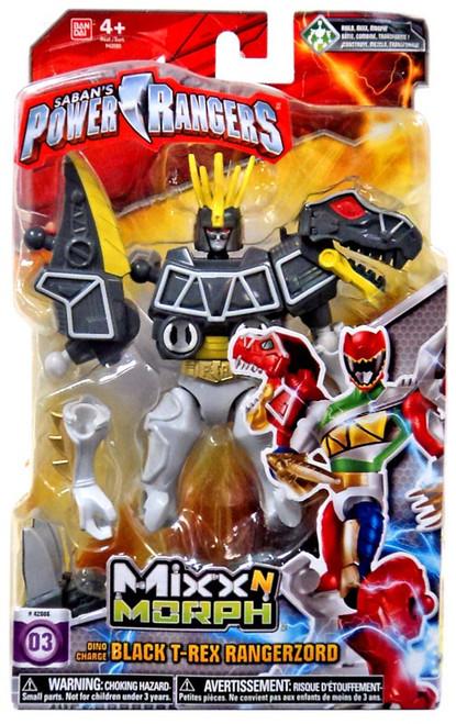 Power Rangers Dino Charge Mixx N Morph Black T-Rex Rangerzord Action Figure #03