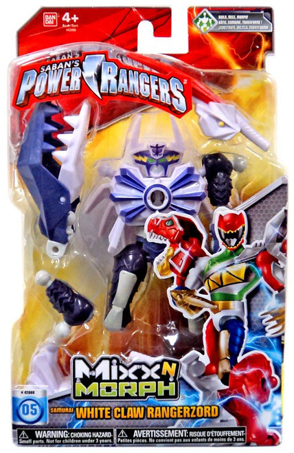Power Rangers Dino Charge Mixx N Morph White Claw Rangerzord Action Figure #05