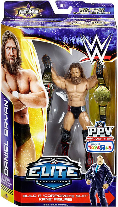 WWE Wrestling Elite Collection WrestleMania 30 Daniel Bryan Exclusive Action Figure [2 Championship Belts]