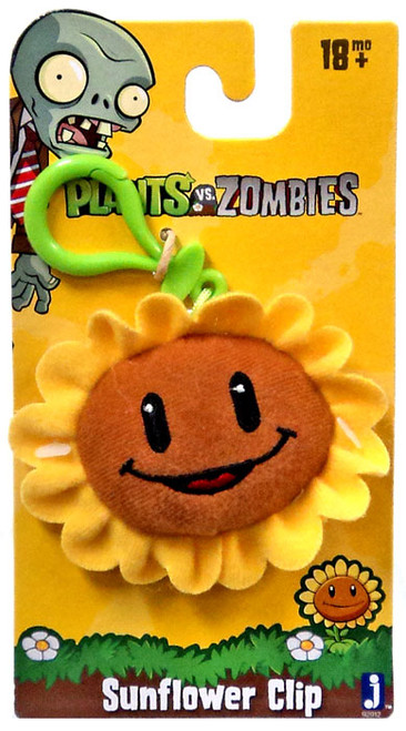 Plants vs. Zombies Sunflower Plush Clip On
